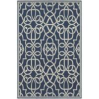 Carson Carrington Nykoping Geometric Navy/Ivory Indoor-Outdoor Area Rug - 8'6 x 13'