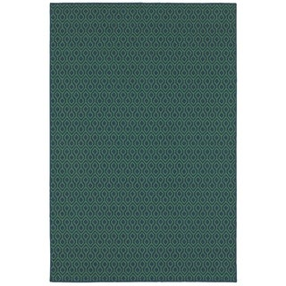 StyleHaven Geometric Navy/Green Indoor-Outdoor Area Rug (8'6x13')|https://ak1.ostkcdn.com/images/products/10634913/P17703412.jpg?_ostk_perf_=percv&impolicy=medium