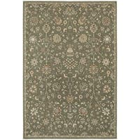 """Updated Traditional Floral Grey/ Multi Rug - 7'10"""" X 10'10"""""""