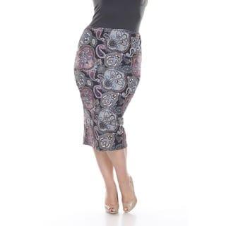 White Mark Women's Plus Size Multicolor Paisley Print Pencil Skirt|https://ak1.ostkcdn.com/images/products/10634939/P17703447.jpg?impolicy=medium