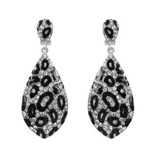 Fancy Leopard Print Dangle Earrings