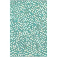 Carson Carrington Skovde Blue/Ivory Indoor-Outdoor Area Rug (7'10 x 10'10)