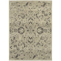 "Copper Grove Nueltin Floral Traditional Beige/ Grey Rug - 7'10"" x 10'10"""