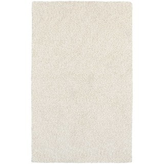 Cozy Indulgence Heathered Ivory Shag Rug (8' X 11')