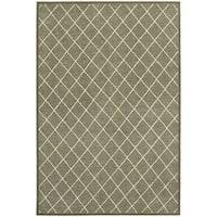 Diamond Trellis Heathered Grey/ Ivory Rug - 7'10 x 10'10