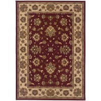 Updated Old World Persian Flair Red/ Ivory Area Rug - 7'10 x 11'