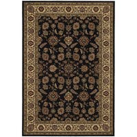 """Updated Old World Persian Flair Brown/ Ivory Area Rug (7'10 x 11') - 7'10"""" x 11'"""