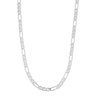 Fremada Sterling Silver 3 3 Millimeters Concave Figaro Chain Necklace