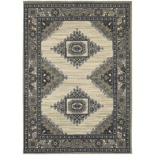 Global Influence Persian Beige/ Grey Area Rug (6'7 x 9'6)