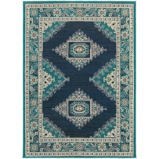 Global Influence Persian Blue/ Ivory Area Rug (6'7 x 9'6)