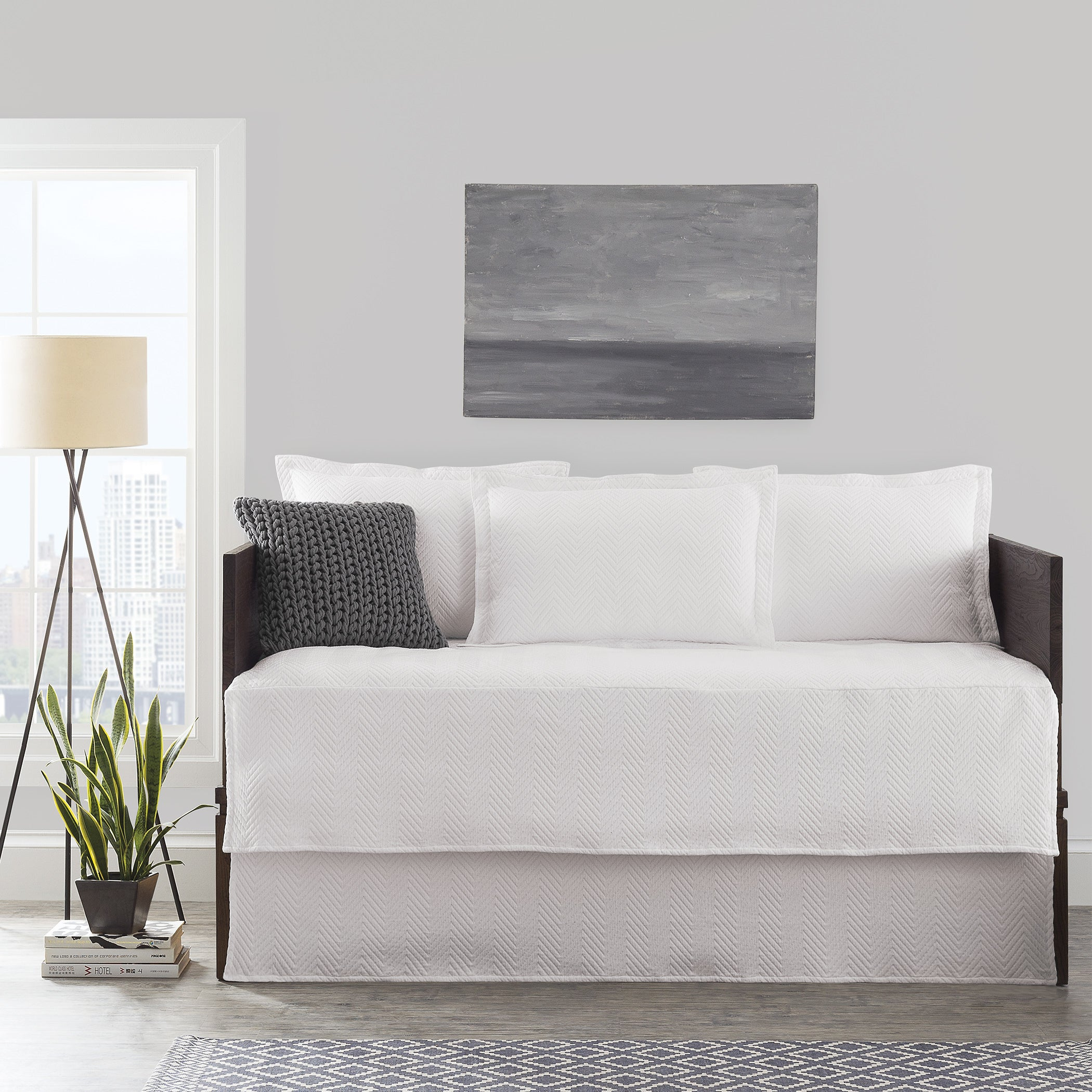LaMont Home Chevron Day Bed Cover Set (Off-White (Beige))...