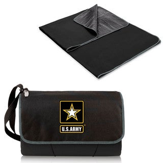 Picnic Time U.S. Army Black Blanket Tote