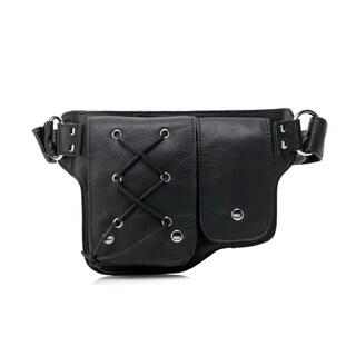 Yvette Leather Waist pack Belt Bag