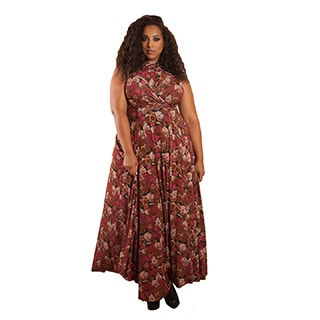 Sealed with a Kiss Women's Plus Size Eternity Convertible Multi Print Maxi Dress