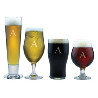 Personalized Craft Beer Glass Assortment (Set of 4)