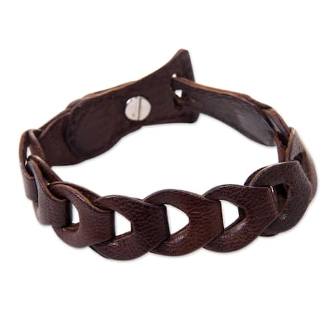 Leather 'Infinity in Brown' Bracelet