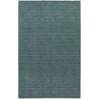 Handwoven Wool Heathered Blue Rug - 5' x 8'