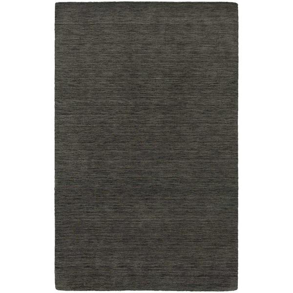 Handwoven Wool Heathered Charcoal Rug - 5' x 8'