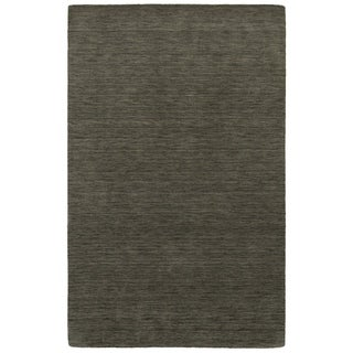 Handwoven Wool Heathered Charcoal Area Rug (5' x 8')