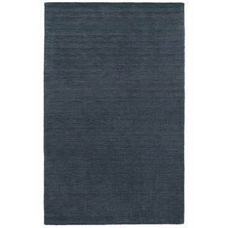 Handwoven Wool Heathered Navy Area Rug (5' x 8')