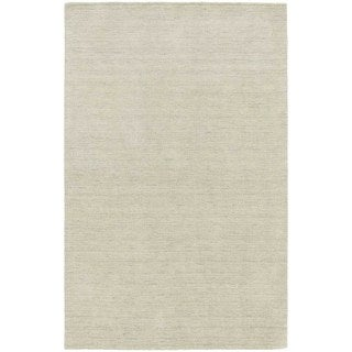 Handwoven Wool Heathered Beige Area Rug (5' x 8')