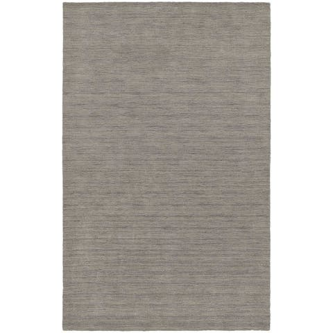 Handwoven Plush Wool Heathered Grey Rug (5' X 8') - 5' x 8'