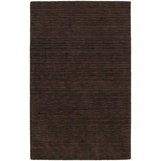 Handwoven Wool Heathered Brown Rug (5' X 8')