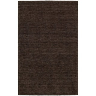 Handwoven Wool Heathered Brown Area Rug (5' x 8')
