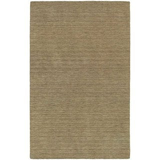Handwoven Wool Heathered Gold Area Rug (5' x 8')