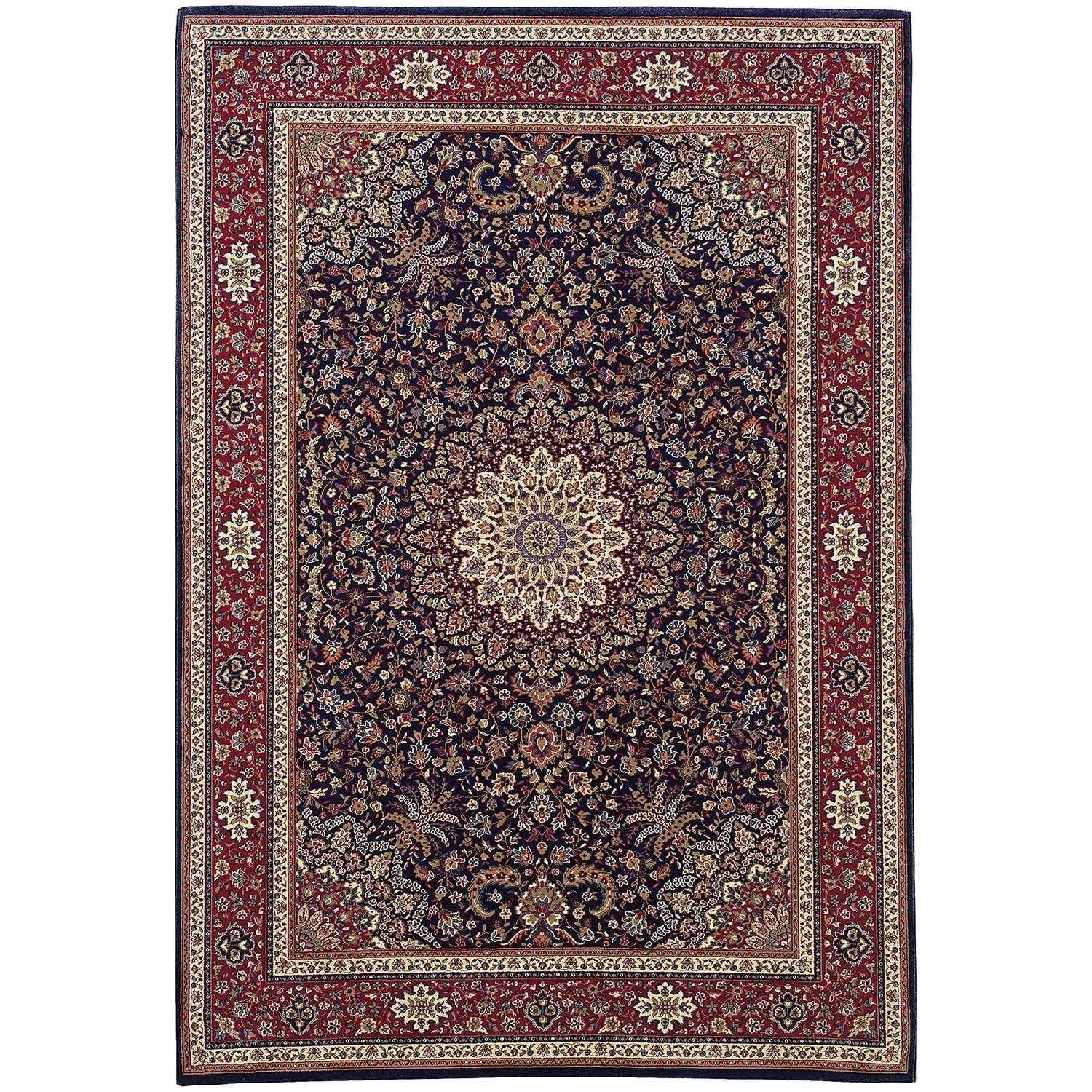 """Updated Old World Persian Flair Blue/ Red Rug (5'3"""" X 7'9"""")"""