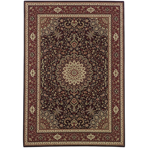 Shop Updated Old World Persian Flair Brown/ Red Area Rug