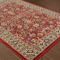 Gracewood Hollow Heliodorus Persian Flair Red/ Ivory Rug - 5'3 x 7'9