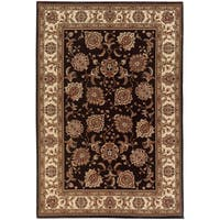 """Updated Old World Persian Flair Brown/ Ivory Area Rug (5'3 x 7'9) - 5'3"""" x 7'9"""""""