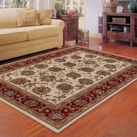 """Updated Old World Persian Flair Ivory/ Red Rug (5'3"""" X 7'9"""") - 5'3"""" x 7'9"""""""