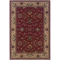 "Updated Old World Persian Flair Red/ Ivory Area Rug (5'3 x 7'9) - 5'3"" x 7'9"""