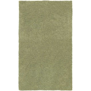 Cozy Indulgence Heathered Green Shag Rug (5' X 7')