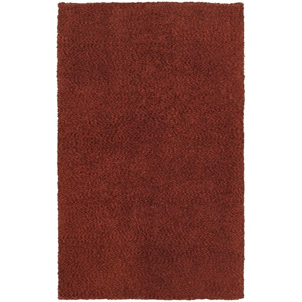 Cozy Indulgence Heathered Red Shag Rug (5' X 7')