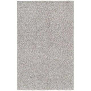 Cozy Indulgence Heathered Grey Shag Rug (5' X 7')