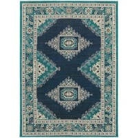 Carson Carrington Uddevalla Persian Blue/ Ivory Rug - 5'3 x 7'6