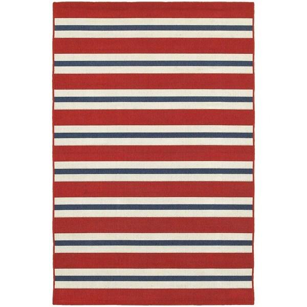 Laurel Creek Josie Horizonal Striped Area Rug - 5'3 x 7'6