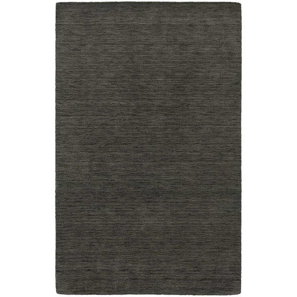 Handwoven Plush Wool Heathered Charcoal Rug (6' X 9') - 6' x 9'