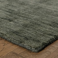 Handwoven Wool Heathered Charcoal Rug - 6' x 9'