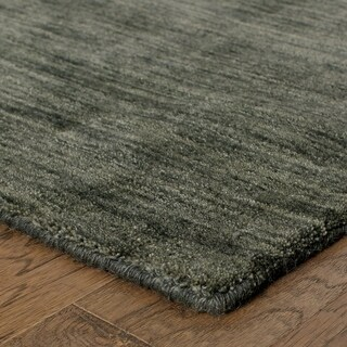 Handwoven Wool Heathered Charcoal Rug (6' X 9')