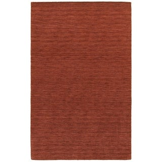 Handwoven Plush Wool Heathered Red Rug (6' X 9') - 6' x 9'