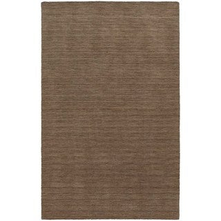 Handwoven Wool Heathered Tan Area Rug (6' x 9')