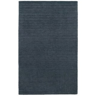 Handwoven Wool Heathered Navy Area Rug (6' x 9')