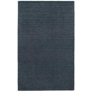 Handwoven Wool Heathered Navy Rug (6' X 9')
