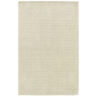 Handwoven Wool Heathered Beige Area Rug (6' x 9')