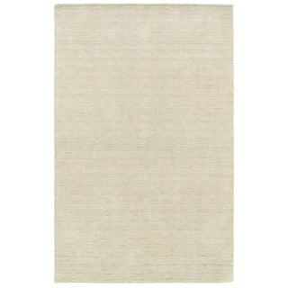 Handwoven Wool Heathered Beige Rug (6' X 9')