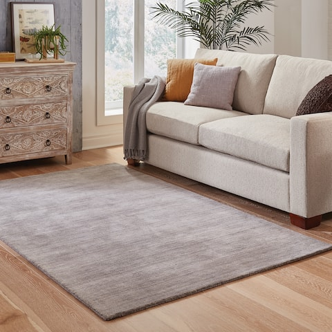 Handwoven Plush Wool Heathered Grey Rug (6' X 9') - 6' x 9'